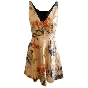Karen Millen Floral Print Cream Dress